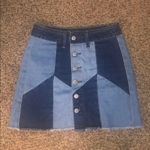 NWOT American eagle button front jean skirt